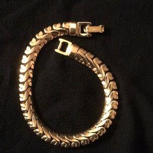 Is Monet Jewelry Real >> Women S Monet Bracelet Real Gold On Poshmark